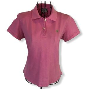 Lilly Pulitzer Pink Crop Polo Size Medium